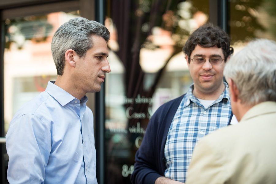 State Sen. Daniel Biss (D-Evanston) appears at a July event. The Democratic gubernatorial candidate hired a new campaign communications director.