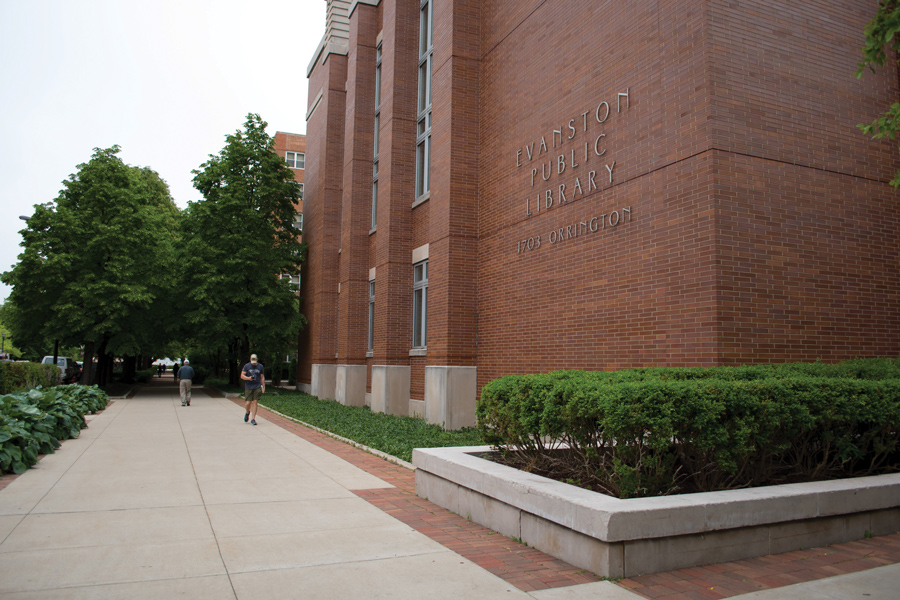 The exterior of Evanston Public Library. EPL recently collaborated with Meals at Home collaborated to launch a series of community discussions around hunger and food insecurity for locals.