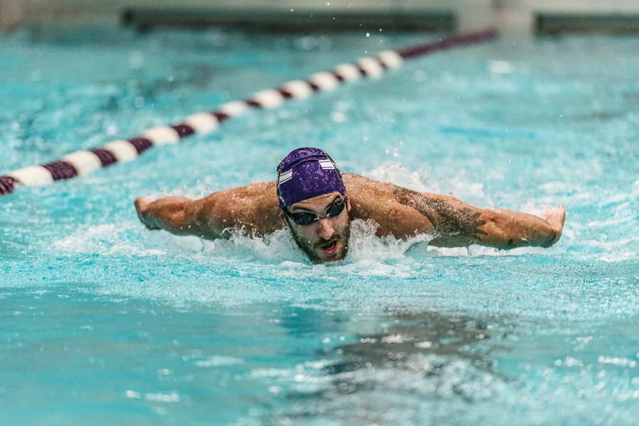 Nick Petersen swims. The senior and the Wildcats earned their first two wins of the season over the weekend.