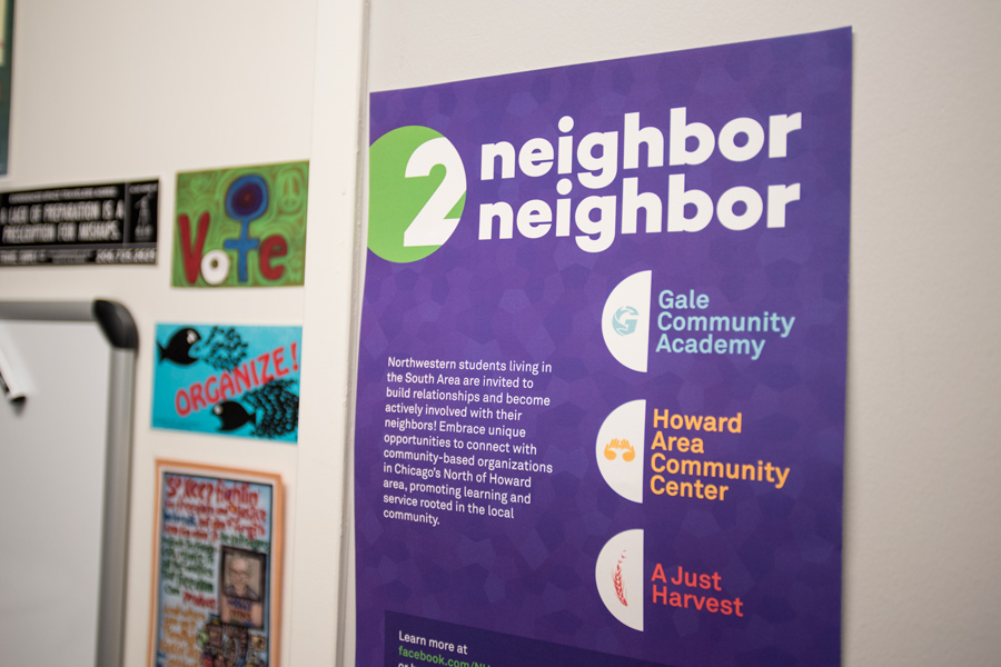 Neighbor2Neighbor+partners+with+local+organizations+to+provide+students+with+volunteer+opportunities.+Northern+Chicago+can+feel+like+%E2%80%9Ca+world+away%2C%E2%80%9D+said+Val+Buchanan%2C+assistant+director+of+the+Office+of+Leadership+Development+and+Community+Engagement.