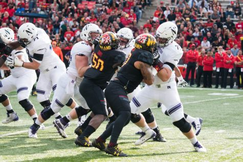 Football: Northwestern offensive line rebounds in win over Maryland