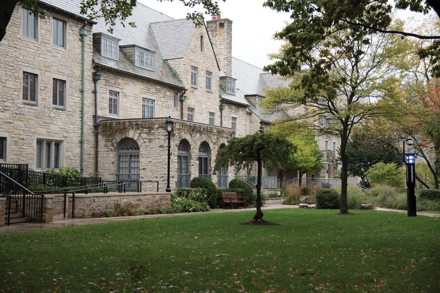 Some housing in the sorority quad. Panhellenic Association president Karalyn Berman said chapters will partner to create presentations about different values, not individual chapters, this year.
