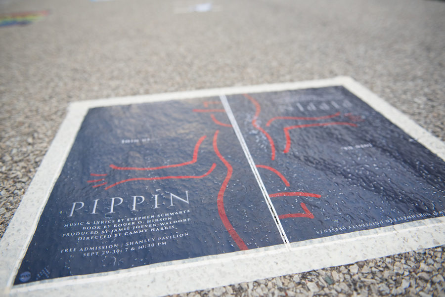 "A flier advertises the musical ""Pippin."" Arts Alliance canceled on Friday all productions of the musical after learning the organization did not receive the licensing rights to produce it, executive director Andrew Restieri said."
