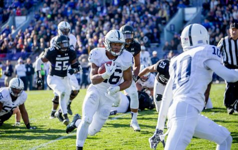 Penn State's Saquon Barkley runs against Northwestern in 2015. The Heisman contender leads a potent Nittany Lions offense into Evanston.