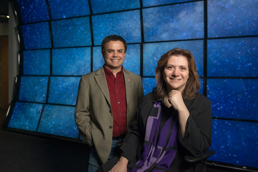 Northwestern+Physics+and+Astronomy+Profs.+Shane+Larson+and+Vicky+Kalogera+both+contributed+to+the+discovery+of+the+neutron+star+collision.+The+discovery+occurred+on+Aug.+17%2C+and+the+results+were+published+on+Oct.+16.
