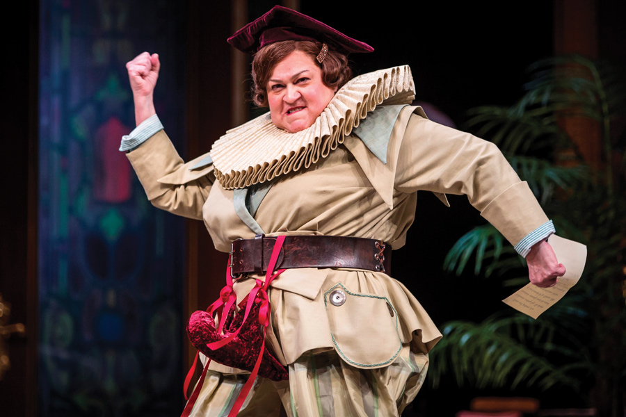 """Communication Prof. Cindy Gold performs in the all-female production of William Shakespeare's """"The Taming of the Shrew."""" The production will run until Nov. 12."""
