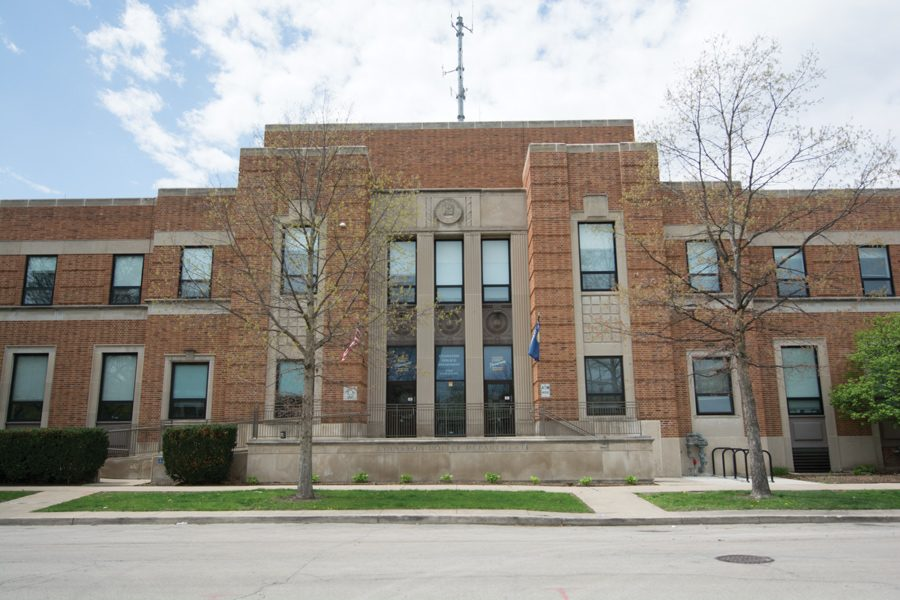 Evanston Police Department headquarters, 1454 Elmwood Ave.