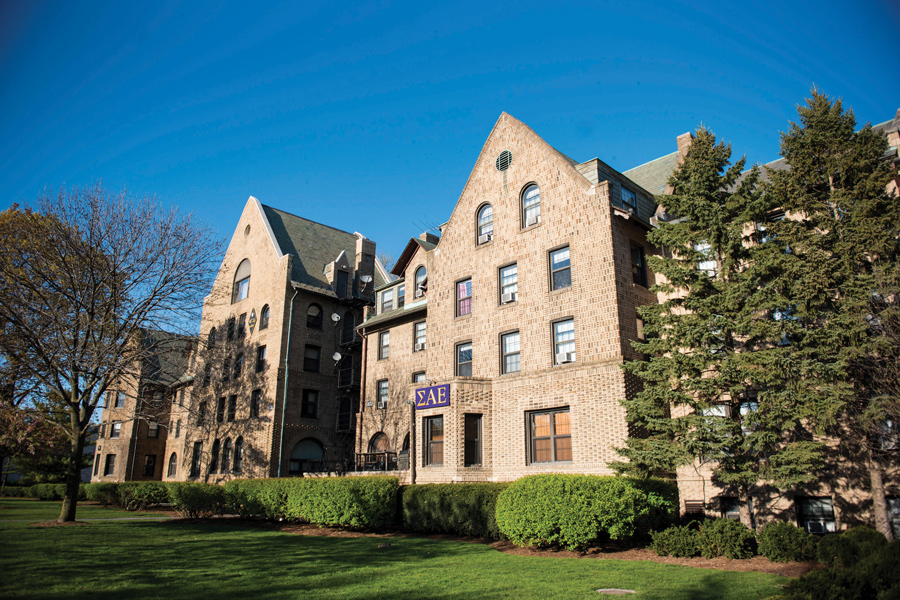Sigma Alpha Epsilon fraternity's house on Northwestern's campus.