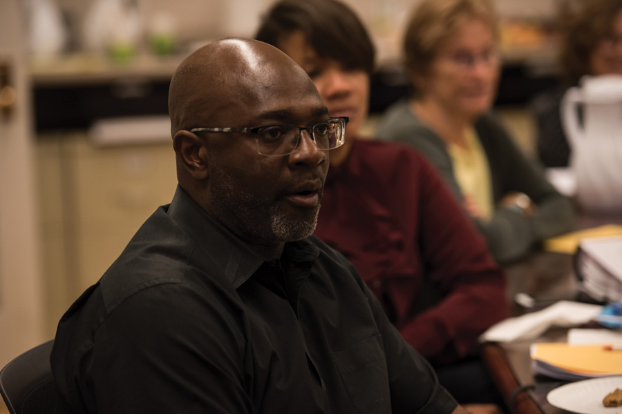 Ald. Peter Braithwaite (2nd) speaks at City Council's equity training on Wednesday. After months of discussion, aldermen and city officials held the training to learn how to communicate with the community's vulnerable populations.