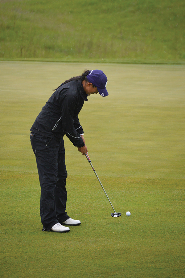 Janet Mao putts. The junior and the Wildcats will compete at the Stanford Intercollegiate beginning Monday.