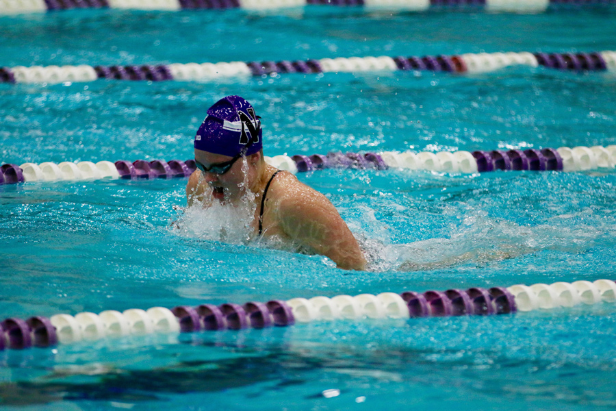Lindsay Adamski swims. The junior and the Wildcats will begin their season Friday against Georgia.