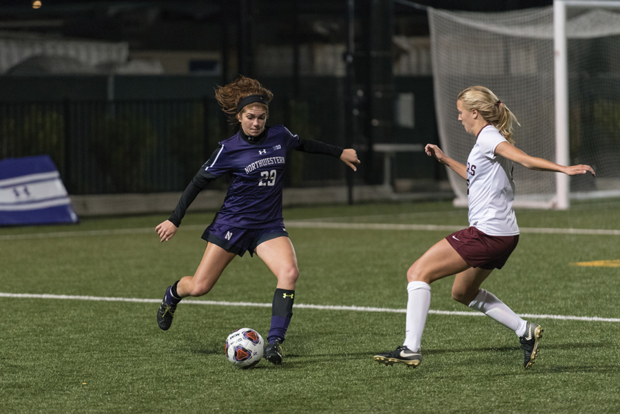 northwestern women u2019s soccer beats wisconsin  boosts