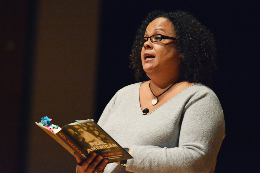 Author Julie Lythcott-Haims discusses her experience growing up biracial in the United States. Lythcott-Haims, who identifies as black, said blackness is a combination of ancestry and consciousness.