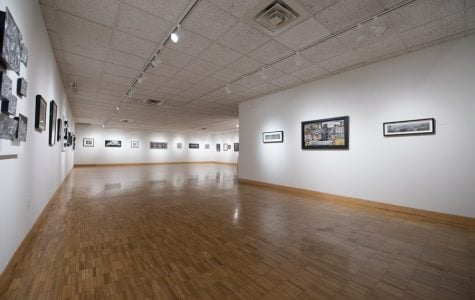 Scratchboard art exhibition displayed at Dittmar Gallery