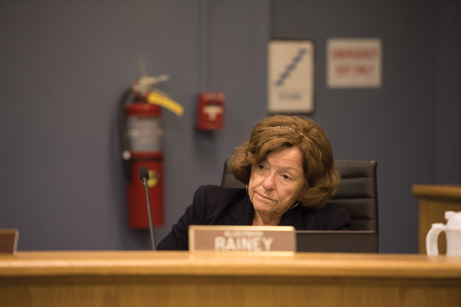 Ald. Ann Rainey (8th) speaks at a City Council meeting. On Monday, Rainey expressed support of a proposed tax on rides from services like Uber and Lyft.