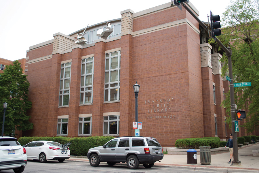 Evanston Public Library, 1703 Orrington Ave. Between 250 and 400 employees were placed on unpaid leave for the Nov. 10 furlough day, which was created to counteract budget shortages.
