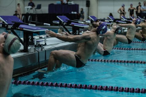 Men's Swimming: Northwestern loses final fall dual meet to Wisconsin