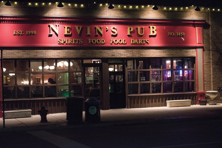 Tommy Nevin's Pub, 1454 Sherman Ave, which was a popular bar for students. Evanston and University police are investigating students who stole items from the pub last month.