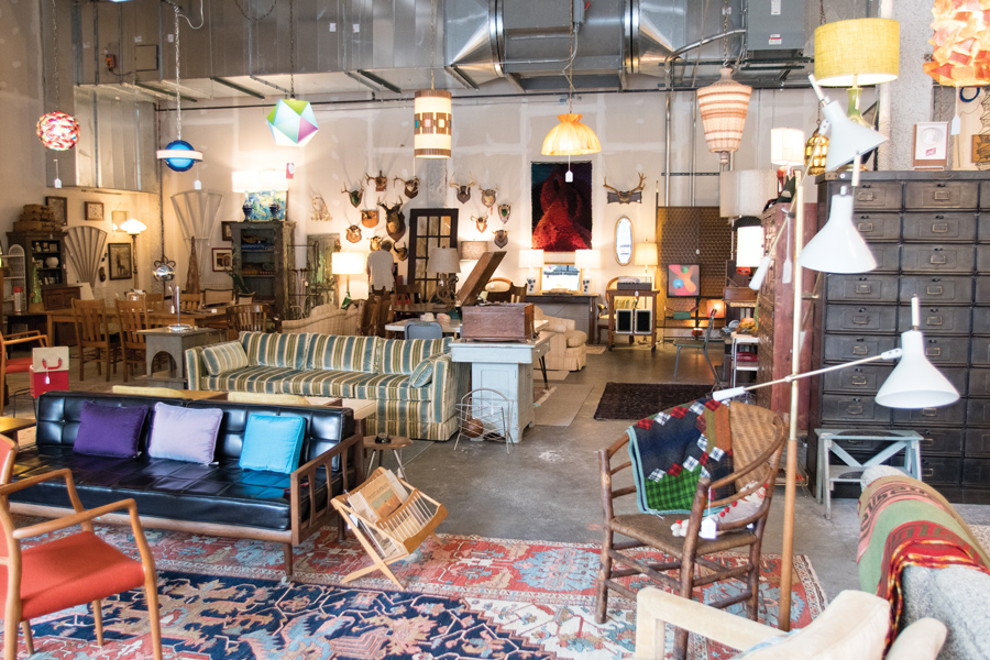 Swantiques, 518 Main St. Owner and Evanston resident Lora Swanson opened the antiques pop-up store Friday.