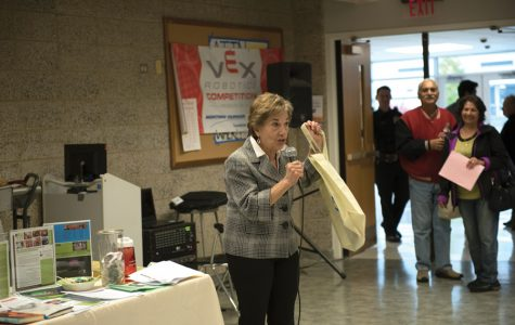 "U.S. Rep. Jan Schakowsky (D-Ill.) encourages attendees to share information on resources with friends and family. Schakowsky spoke Saturday at ""Helping Hands,"" a local inaugural event meant to make residents more aware of the social welfare services available to them."