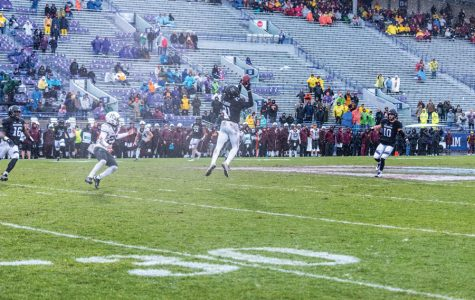 Kyle Queiro intercepts Minnesota quarterback Demry Croft. Queiro and fellow senior safety Godwin Igwebuike are approaching the end of their illustrious Northwestern careers.