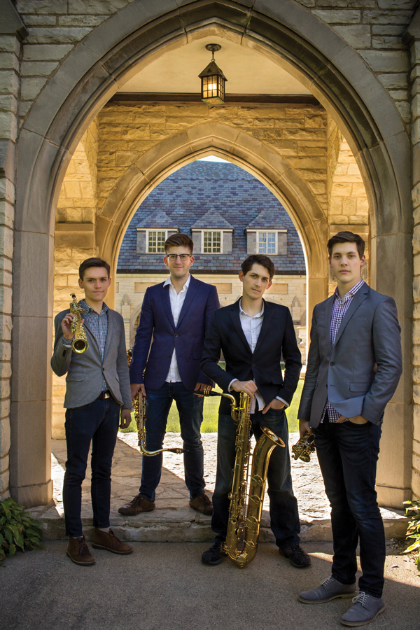 Last year, four Bienen students formed a saxophone quartet, specializing in the performance of new music. ~Nois will play their first professional gig in Chicago at Constellation.