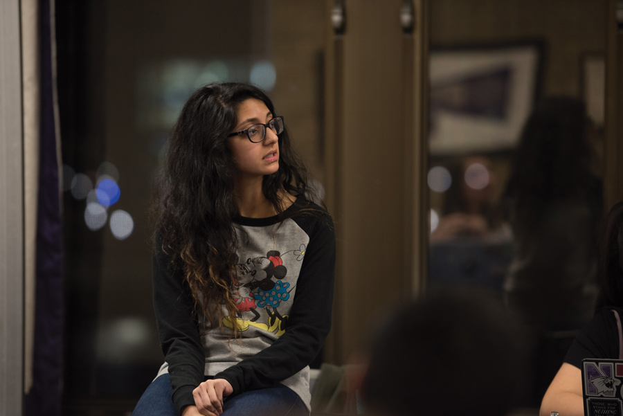 ASG President Nehaarika Mulukutla speaks during Senate on Wednesday. ASG passed the Student Group CARE Training Mandate, which requires sexual assault training for ASG-funded groups.