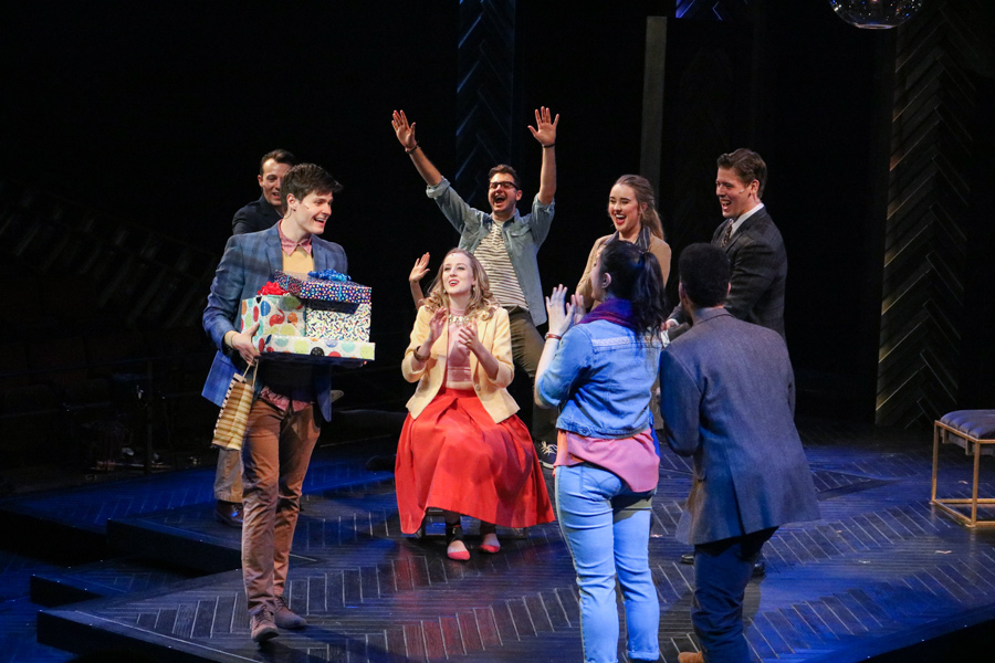 """Students rehearse Stephen Sondheim's """"Company,"""" which will premiere as Northwestern's fall mainstage Friday. The production will run at the Ethel M. Barber Theater for three weekends."""