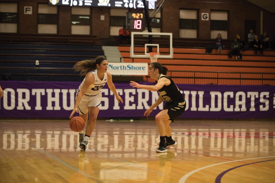 +Byrdy+Galernik+dribbles+the+ball.+The+sophomore+guard+and+the+Wildcats+won+at+UT-Martin+on+Saturday.%0A