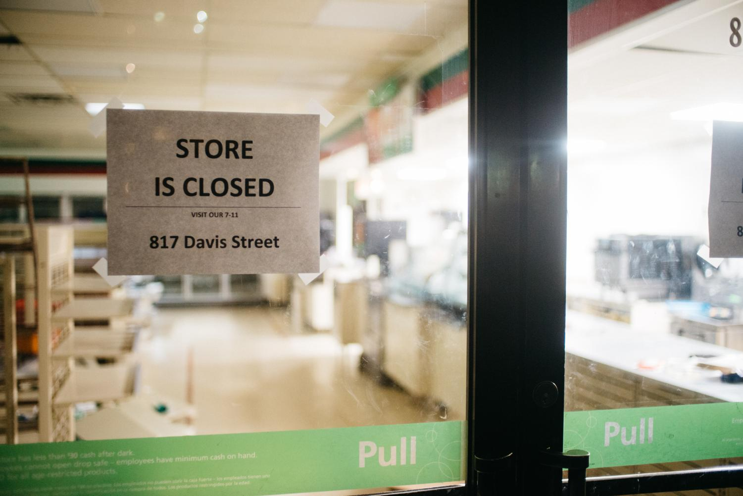 7-Eleven, 817 Emerson St. The convenience store has temporarily closed in preparation for construction of a nine-story, 242-unit residential building, which will include space for 7-Eleven to reopen on the ground floor.