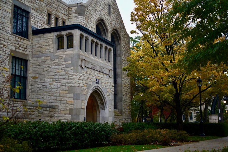 """Scott Hall houses the Office of Student Conduct. A former Northwestern student filed a lawsuit against the University in September, alleging his exclusion from NU resulted from a """"grievous mishandling"""" of a sexual assault investigation against him."""