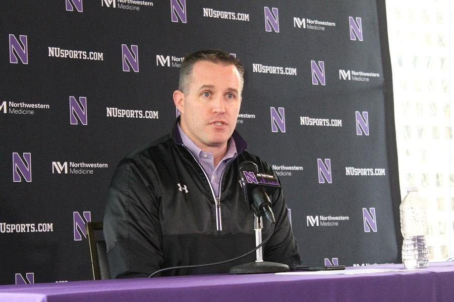 Pat+Fitzgerald+talks+about+his+recruiting+class+during+last+year%27s+signing+day.+Fitzgerald+and+Northwestern+signed+18+new+recruits+on+Wednesday.