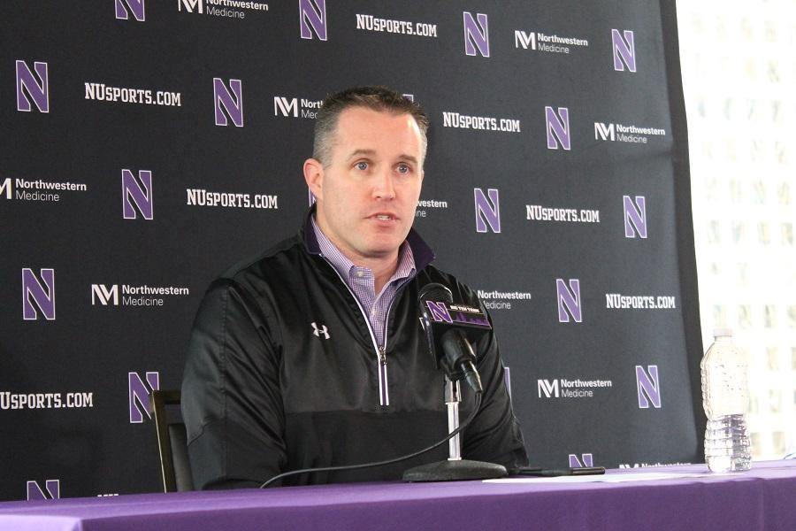 Pat Fitzgerald talks about his recruiting class during last year's signing day. Fitzgerald and Northwestern signed 18 new recruits on Wednesday.
