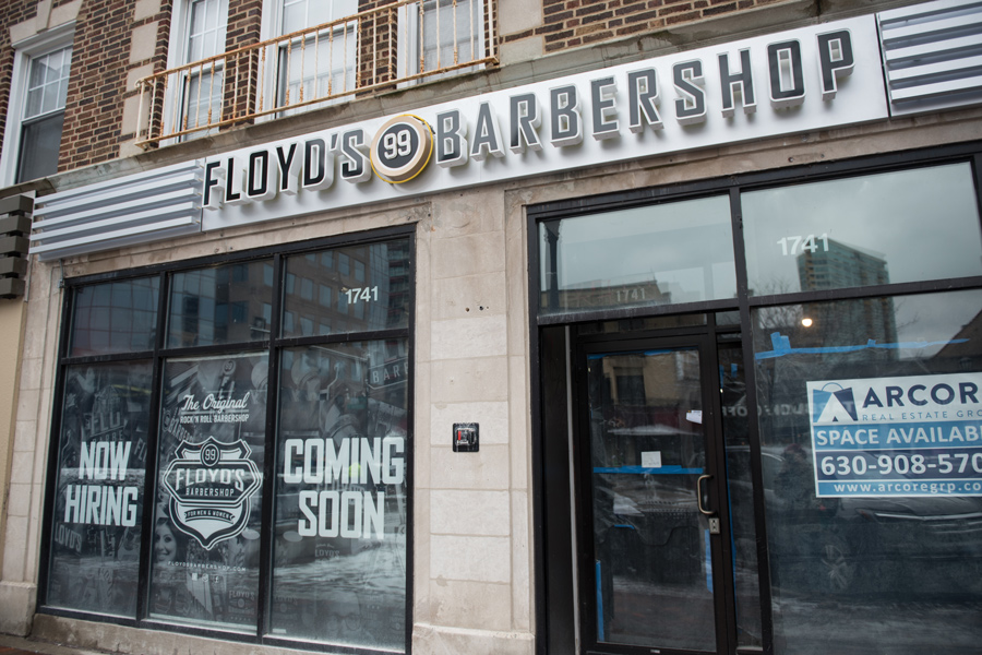 Floyd's 99 Barbershop, 1741 Sherman Ave. The barbershop will look to open in the coming months.