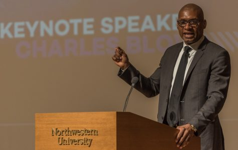 New York Times columnist Charles Blow delivers the keynote address for Northwestern's MLK commemoration. Blow addressed issues of racial inequality and mass incarceration in his speech Thursday.