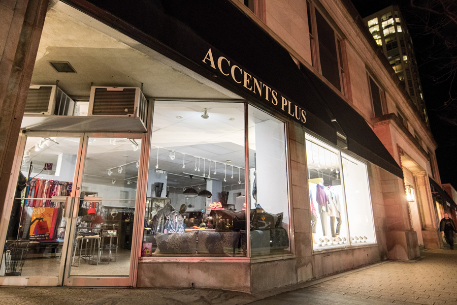 Accents Plus, 601 Davis St. Aldermen delayed the vote on the proposed development at that location after the developer asked for more time on the project.