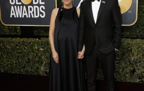 Seth Meyer and wife Alexi Ashe arrives at the 75th Annual Golden Globes at the Beverly Hilton Hotel in Beverly Hills, Calif., on Sunday, Jan. 7, 2018.