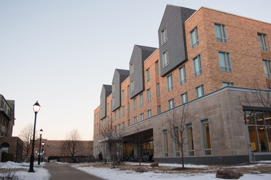Northwestern%E2%80%99s+newest+residence+hall+at+560+Lincoln+St.+The+Undergraduate+Residential+Experience+Committee+released+a+report+Thursday+recommending+the+University+implement+a+new+%E2%80%9Cneighborhood%E2%80%9D+framework+for+housing.