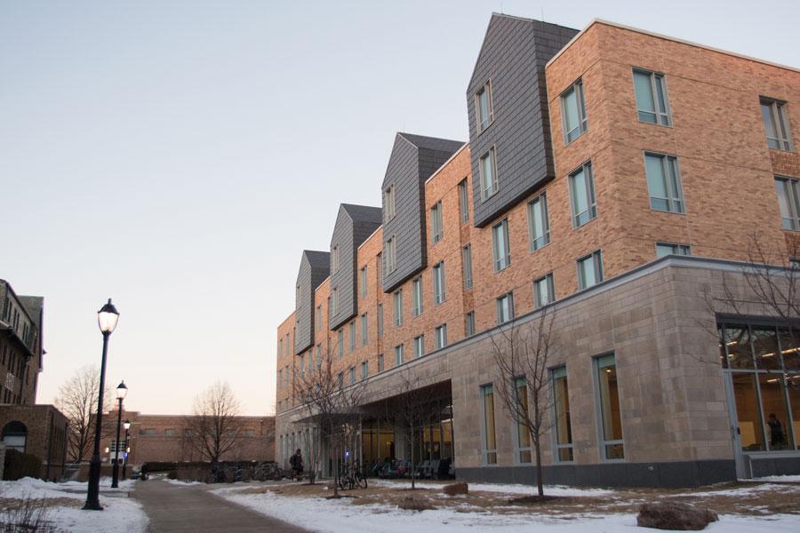 "Northwestern's newest residence hall at 560 Lincoln St. The Undergraduate Residential Experience Committee released a report Thursday recommending the University implement a new ""neighborhood"" framework for housing."
