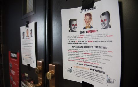 Flyers condemning fraternity life found across campus during recruitment week