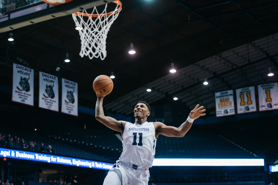Anthony Gaines soars up for a dunk. The freshman guard scored 3 points and made a significant impact on the defensive end in Wednesday's win over Minnesota.