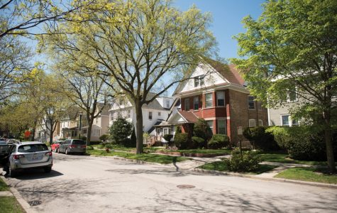 Houses on Garnett Place. Evanston resident Audrey Steele received an eviction notice from Cook County.