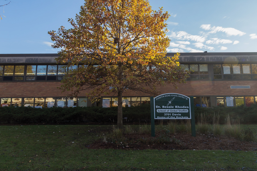 Dr. Bessie Rhodes School of Global Studies, 3701 Davis St. The former principal Lauren Norwood left the school on Friday for an administrative position with Chicago Public Schools.