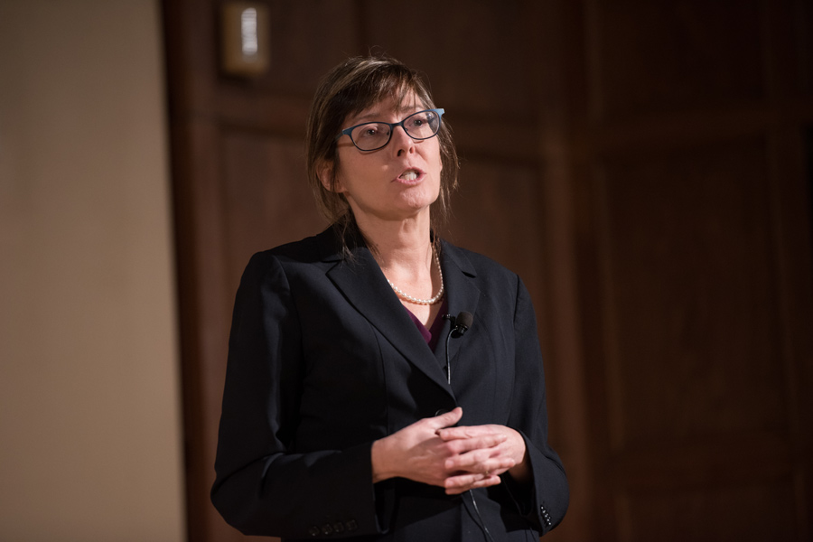 Former Feinberg Prof. Alice Dreger. Dreger discusses sexuality and academic freedom at a talk sponsored by Northwestern's Queer Pride Graduate Student Association. Dreger resigned from NU in 2015.