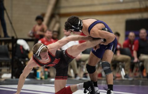 Sebastian Rivera grapples with an opponent. The redshirt freshman will be a key part of Northwestern's efforts against Minnesota this weekend.