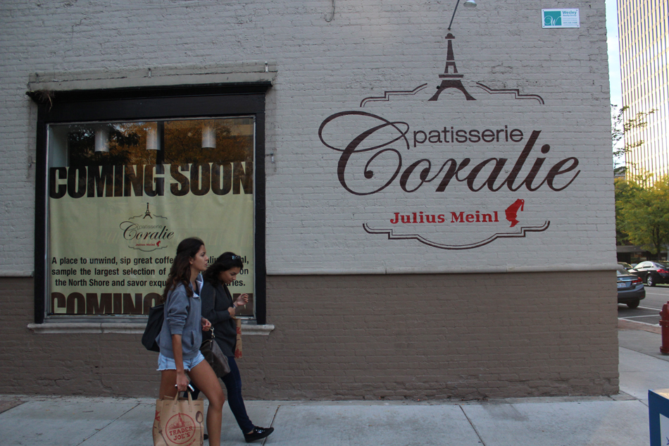 Patisserie Coralie located at 600 Davis Street. The second Evanston Coralie location, Cafe Coralie, opened Feb. 9.