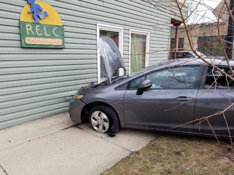 Vehicle strikes daycare, no children injured