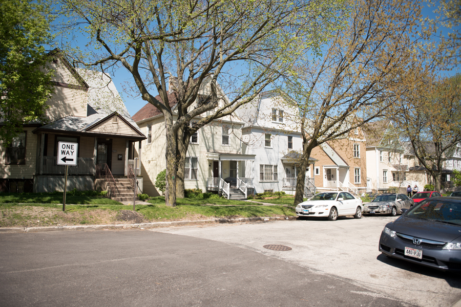 Houses on Garnett Place. A significant number of Northwestern undergraduate students live off campus, many in houses and apartments with more than three unrelated people.