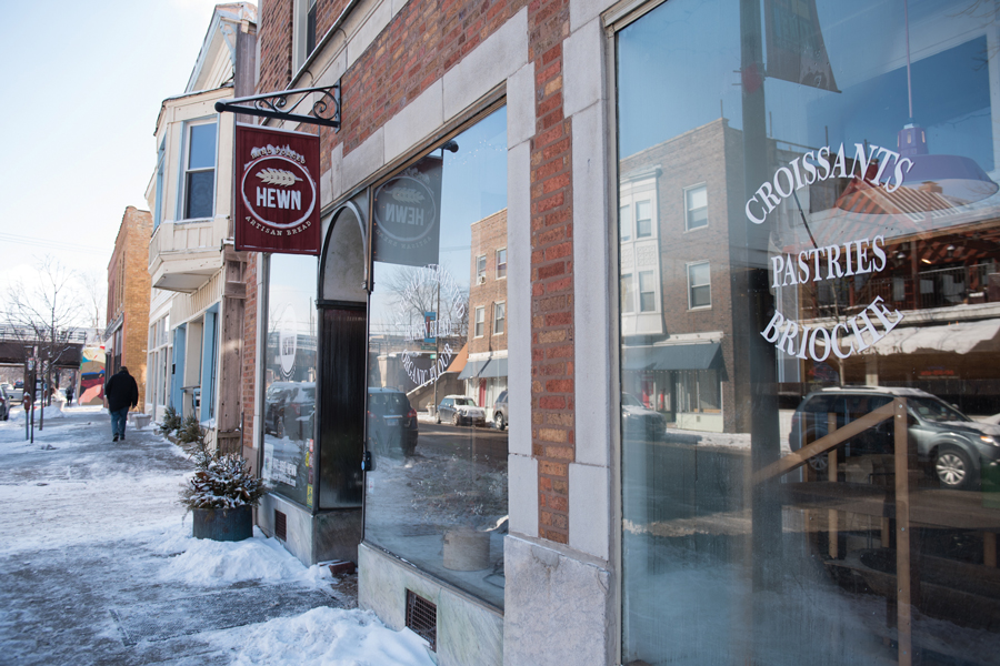 Hewn Bakery, 810 Dempster Street. The Evanston bakery was recently featured on the Illinois tourism YouTube channel.
