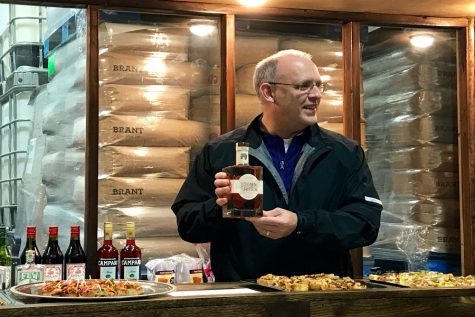 Hagerty celebrates NU football win, local businesses with Kentucky bourbon